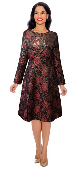 giovanna,d1519, red-multi dress