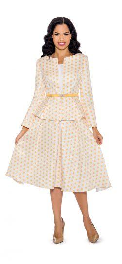 giovanna, g1082, yellow-white church suit