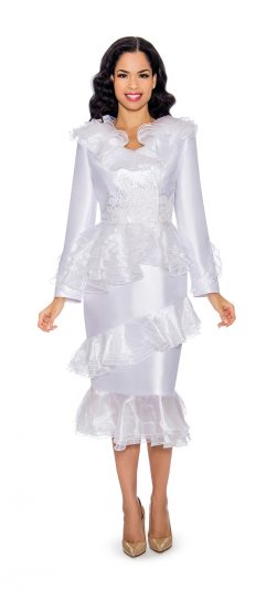 giovanna, g1093, white church suit, white First Lady suit