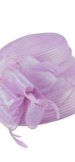 giovanna, pink hat, pink satin ribbon hat, hm970