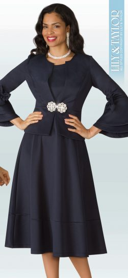 Lily and taylor, dress and jacket, 4202, navy jacket dress