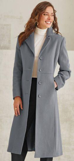 W2O, MR1100, long wool coat, plus size wool coat