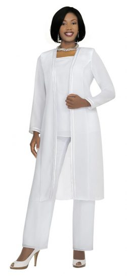 Misty Lane- Pants Suit-13062-white