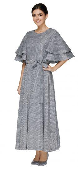 nina nischelle, silver dressy dress, 2886