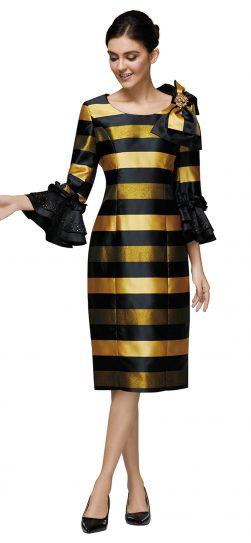 nina nischelle, 2889, black-gold dressy dress