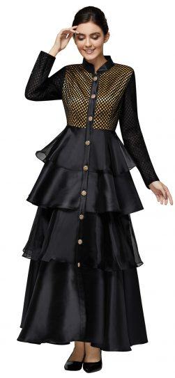 nina nischelle, 2903, long black-gold dress