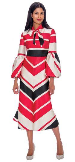 Nubiano, dn2811, red print church dress