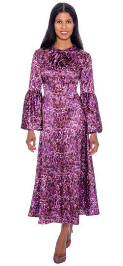 1 piece purple print dress, dn2671