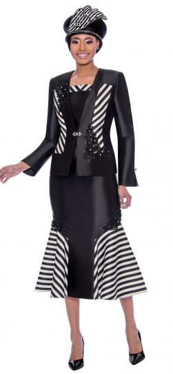 susanna, 3917, black and white church suit