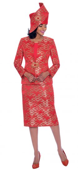susanna, 3932, red dressy church suit