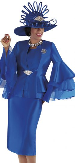 tally taylor, 4699, dressy royal skirt suit