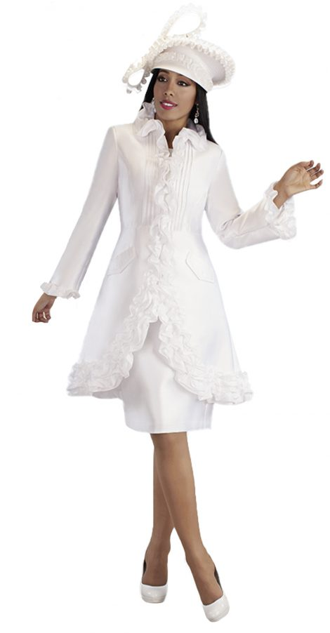 tally taylor, 4702, white jacket dress, white church dress