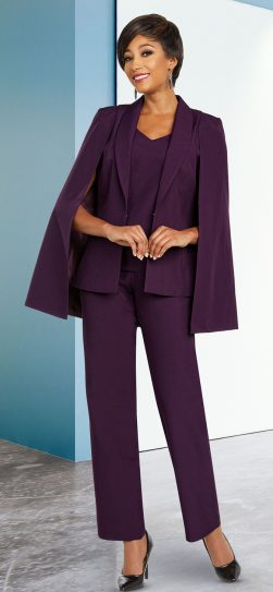 benmarc executive,1806, eggplant pant suit