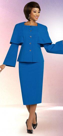 benmarc executive,11807, royal blue skirt suit