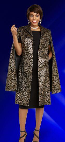 benmarc executive,11845, black-gold jacket dress