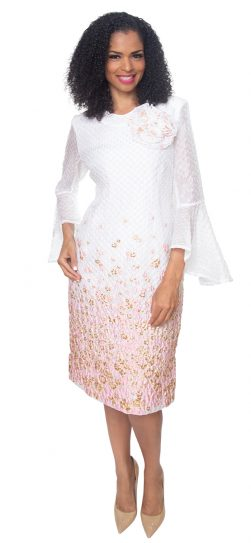 diana, 8503, pink-white church dress
