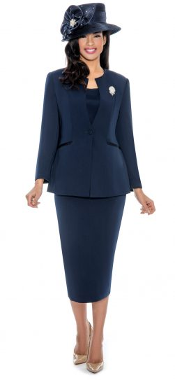 giovanna, 0708, navy skirt suit