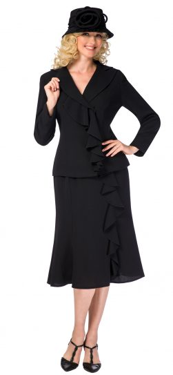 giovanna, 0819, black skirt suit