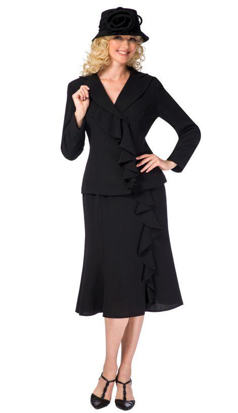 giovanna, 0819, black skirt suit