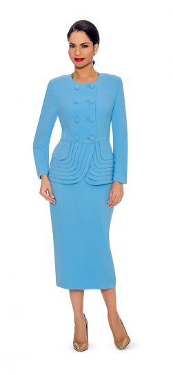 Giovanna-turquoise-skirt suit-0902