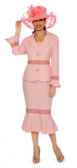 giovanna, 0910, coral skirt suit
