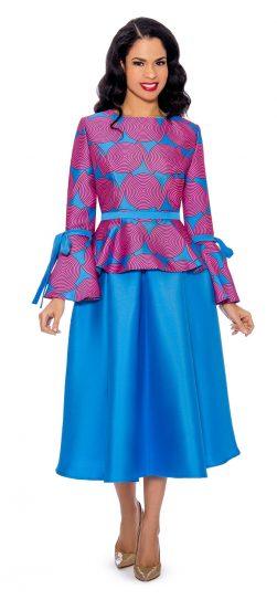 giovanna, 0928, ocean blue skirt suit