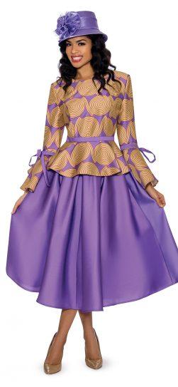 giovanna, 0928, violet skirt suit