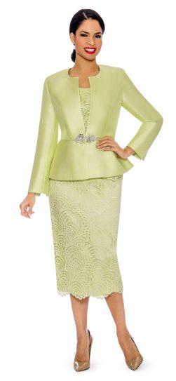 Giovanna, g1098, lime skirt suit