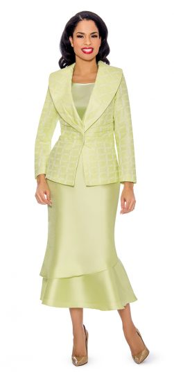 Giovanna, G1099, lime skirt suit
