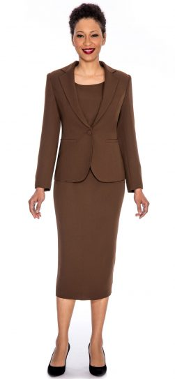 giovanna, 0707-0823, chocolate skirt suit