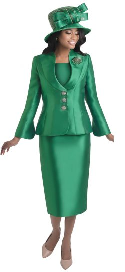lily and taylor, 4417, emerald green church suit