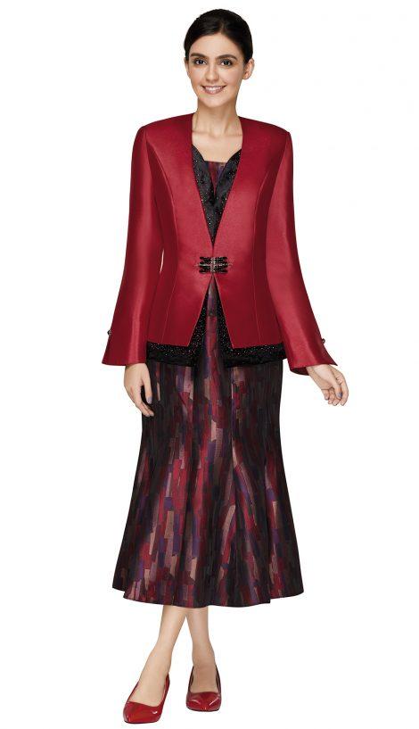 nina massini,3002, dressy red church suit