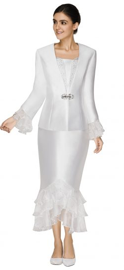 nina massini,3009, dressy white church suit