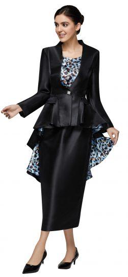 nina massini,3020, black-white church suit