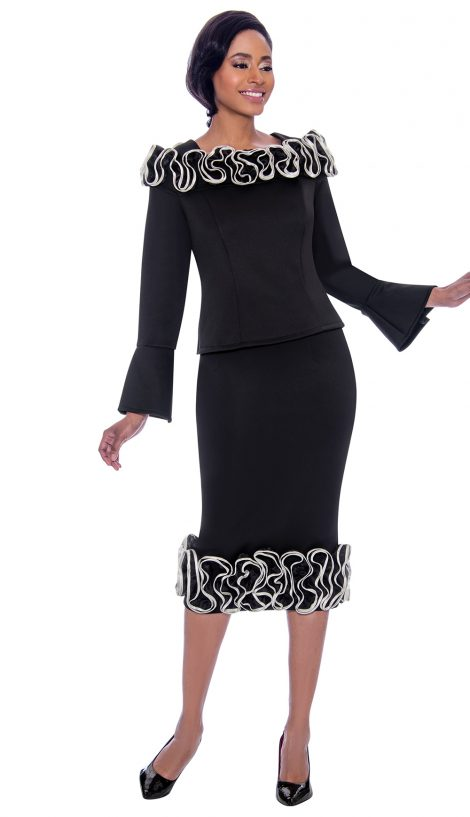 susanna, 3910, black dress, 2 piece black dress