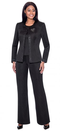 terramina, 7728, dressy black pant suit