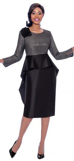 terramina, 7774, dressy black-silver dress