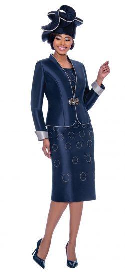 terramina, navy skirt suit, 7777