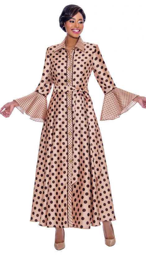terramina, 7785, champagne-brown dress