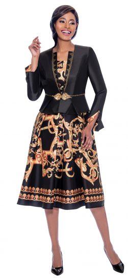 terramina, 7786, black print jacket dress, 7786