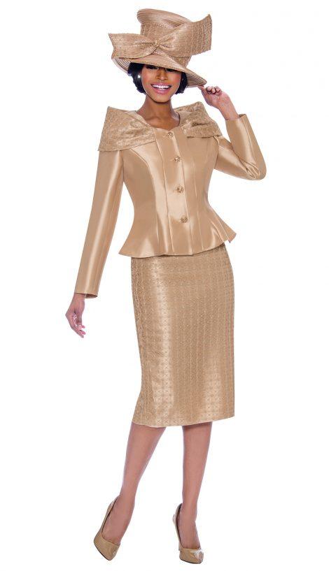 terramina, 7792, dressy gold church suit