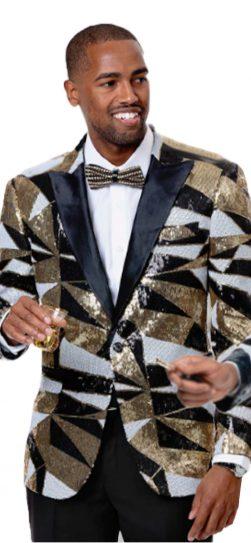 EJ Samuel, Men's Blazer, Gold Blazer