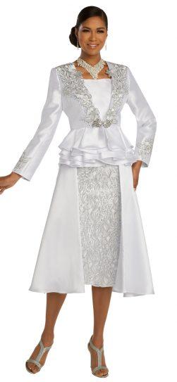 donnavinci,118212, white skirt suit