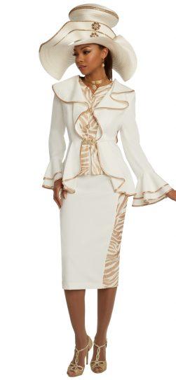 donnavinci, 11833, ivory skirt suit