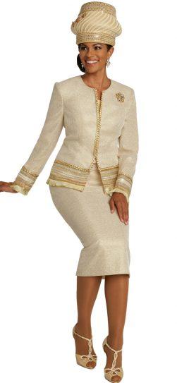 donnavinci, ivory church suit, 5671