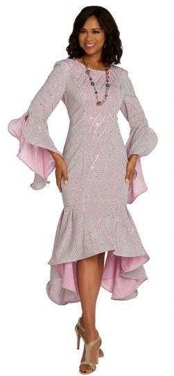 Donnavinci, 5674, 1 piece pink dressy dress