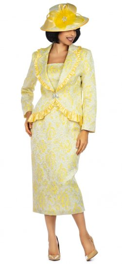 giovanna, 0937, yellow church suit