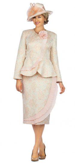 giovanna, 0938, light pink skirt suit