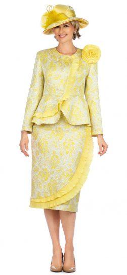 giovanna, 0938, yellow skirt suit