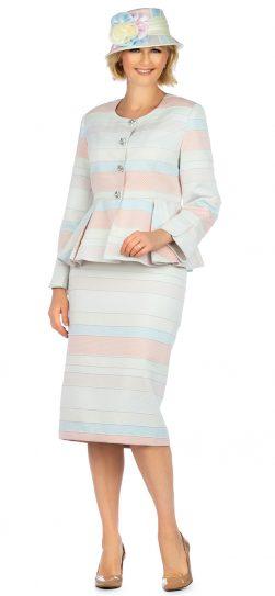 giovanna, g1141, pink multi skirt suit